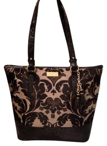 Brahmin Tote in Black & Grey Imperial Calf hair