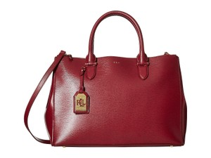 Lauren Ralph Lauren Satchel in Burgundy