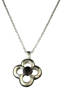 HK by Heidi Klum Garnet Clover Chain Necklace