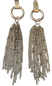 Stunning Silver Chain Chandelier Earrings