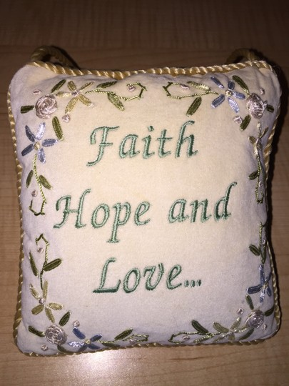 Other Door Pillow; Faith, Hope and Love...- MissSundayBest
