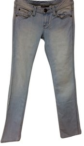 A|X Armani Exchange Stone Wash Leg/bootcut Women's Light Straight Leg Jeans-Light Wash