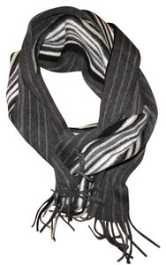 Joseph Abboud Striped Knit Soft Fringe-End Scarf
