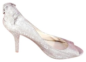 Enzo Angiolini Sparkly Fabric Gold Pumps