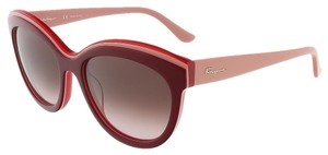 Salvatore Ferragamo Salvatore Ferragamo Bordeaux Red Butterfly Sunglasses