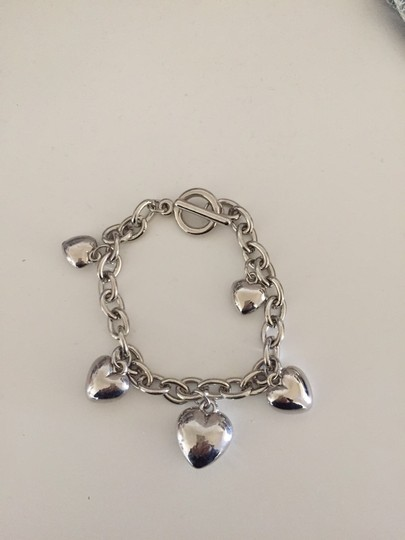 Other Silver Tone Heart Charm Bracelet