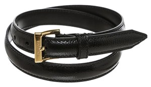 Burberry Burberry Black Leather Belt (Size 28)