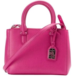 Ralph Lauren Satchel in Raspberry Pink