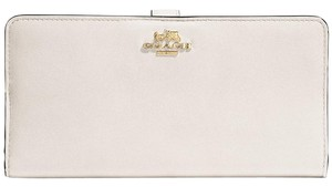 Coach New Madison Skinny Wallet Chalk/Light Gold