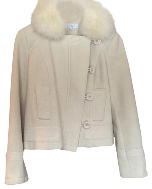 Item - Cream Fur Collar Coat Size 8 (M)