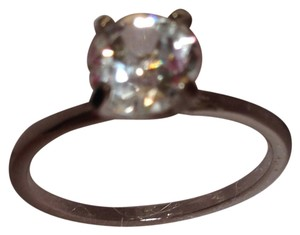 Cubic Zirconia stone on Silver-tone band