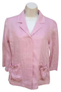Carole Little Linen 3/4 Sleeve Lighweight Rose Pink Jacket