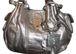 Juicy Couture Hardware Leather Shoulder Bag