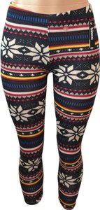 Baslco Black Multicolored Leggings