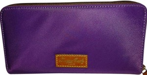 Dooney & Bourke Nylon Zip Around Wallet w/ Duck Y132B PP PURPLE LOT#133222739