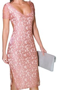 Other short dress Pink Lace Cut-out Split Evening on Tradesy
