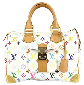 Louis Vuitton Lv.k0705.14 Murakami Satchel in Multicolore Monogram White