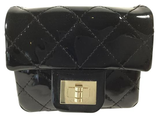 Chanel Limited Edition Rare Anklet Patent Leather Wristlet in Black