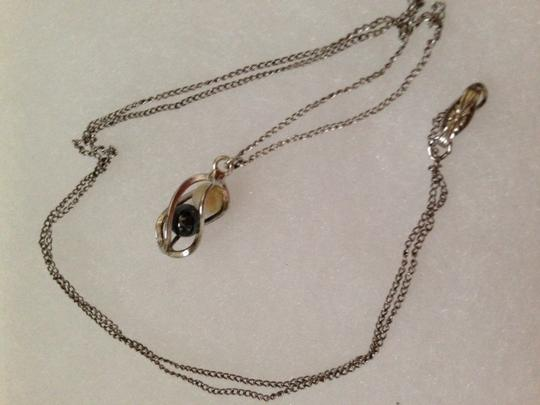 Other Sterling Silver 20 in. Chain with Hematite Pendant