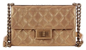 Chanel Gold Metallic Quilted Cross Body Bag