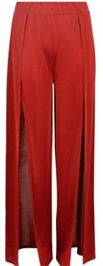 Wide Leg Trouser Split Wide Leg Pants Rust