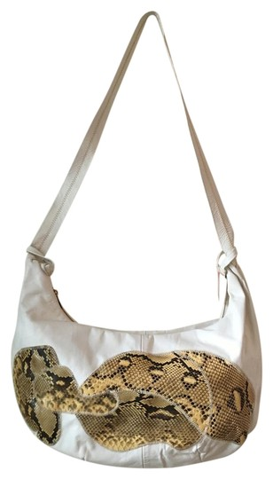 Preload https://img-static.tradesy.com/item/18492145/seagull-large-handbag-with-real-white-wsnakeskin-leather-hobo-bag-0-1-540-540.jpg