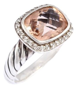 David Yurman Morganite and Diamond Petite Noblesse Ring