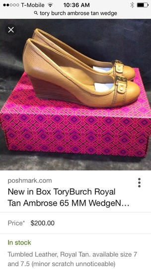 Tory Burch Tan Wedges Image 1