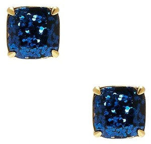 Kate Spade NEW Kate Spade New York MINI GLITTER Studs in Navy 12k Gold