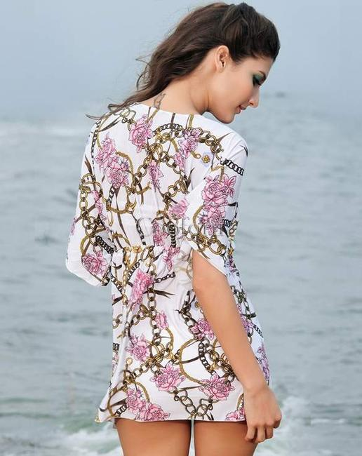 Other Sexy Beach Dress Casual Swimwear Bikini Cover Up Wrap Skirt Floral Smock Top