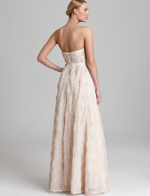 Adrianna Papell Strapless Ball Gown Beaded Dress