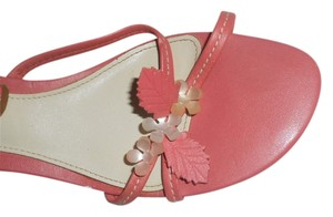 Aerosoles Spring Heeled Flowered Hot Peach Sandals