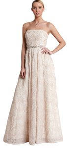 Adrianna Papell Beaded Ball Gown Strapless Dress