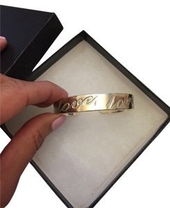Silver Love Inscription Bracelet