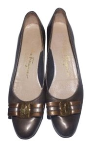 Salvatore Ferragamo Dressy Or Casual Mint Vintage bronze/metallic leather Flats