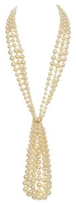 Chanel Chanel Paris/Dallas Three Strand Pearl Lariat Necklace