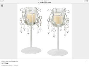 Ivory And Crystal Votives