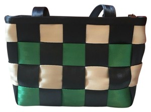 Harveys Tote in Green Blue And White