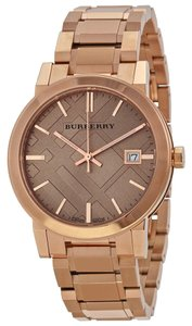 Burberry Burberry Classic Check BU9034 Rose Gold Plated Stainless Watch