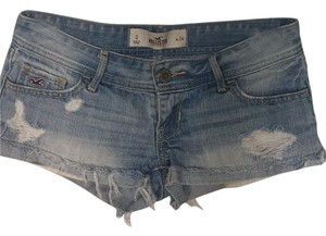 Hollister Cut Off Shorts Light wash