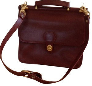 Coach Dark Tan With Gold Details Messenger Bag