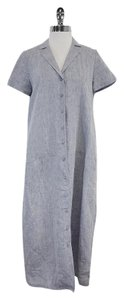 Lafayette 148 New York short dress Chambray Linen Short Sleeve Shirt on Tradesy