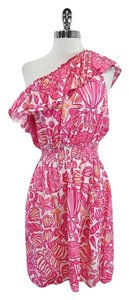 Lilly Pulitzer short dress Pink Ruffled One on Tradesy