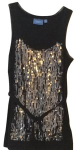 Simply Vera Vera Wang Top Black Sparkles