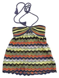 Missoni Multi Color Knit Halter Top