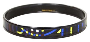 Hermès Hermes Multi-Color Printed Narrow Enamel Bangle sz 65