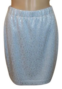 St. John Lined Skirt Blue