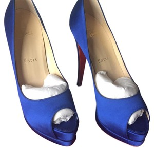 Christian Louboutin Royal blue Platforms