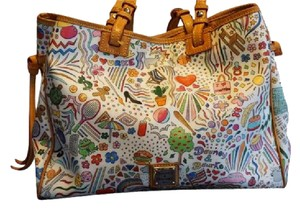 Dooney & Bourke Limited Edition Cartoon Sketch Vacation Shoulder Bag