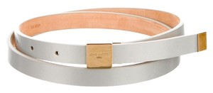 Louis Vuitton Silver Louis Vuitton Metallic Thin Belt S